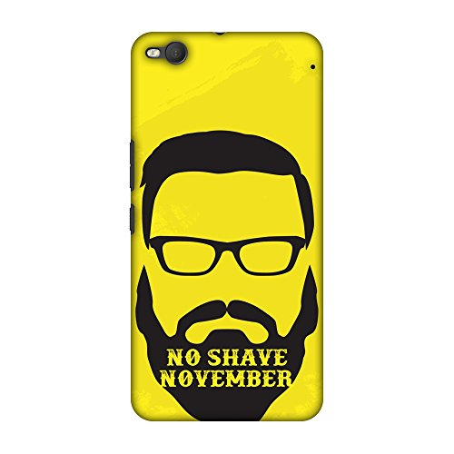 AMZER Slim Fit Handcrafted Designer Printed Hard Shell Case Back Cover for HTC One X9 - No Shave November