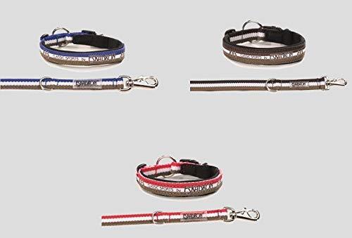 Eskadron Hundehalsbandset, Hundehalsband und Leine, Hibiscus, Toffee, Blue Größe XL, Farbe Espresso