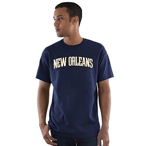 Majestic Athletic Anthony Davis New Orleans Pelicans #23 NBA City Wordmark Player - Camiseta para Hombre, Color Azul Marino, XL, Marino