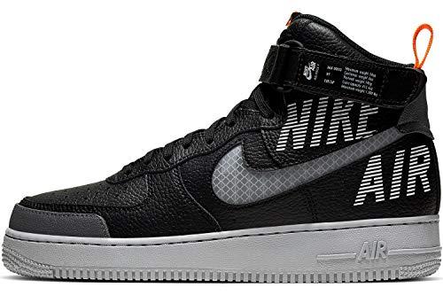 Nike Herren AIR Force 1 HIGH '07 LV8 2 Basketballschuhe, Mehrfarbig (Black/Wolf Grey-Dark Grey-Total Orange 001), 42.5 EU