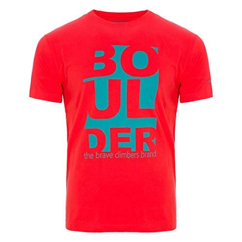 Trangoworld Ulvo T-Shirt Homme, Rouge feu, XL
