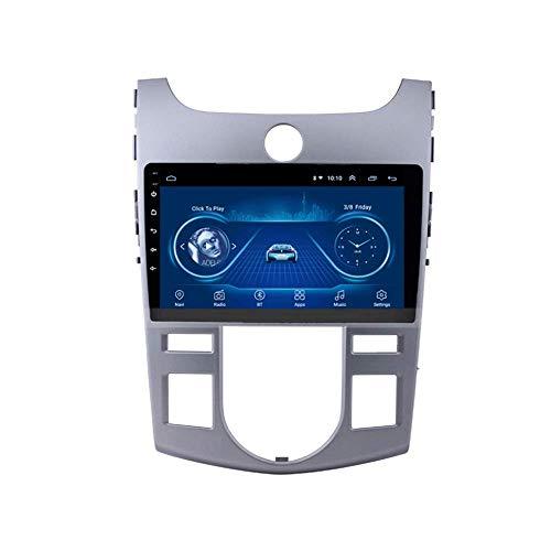 IF.HLMF In Dash Car Radio Stereo 9 Pulgadas Android 8.1 Reproductor de navegación 2.5D Pantalla Compatible con KIA Forte Automatic (2009-2014) Multimedia GPS SWC FM Mirror Link Bluetooth (2G + 32G)