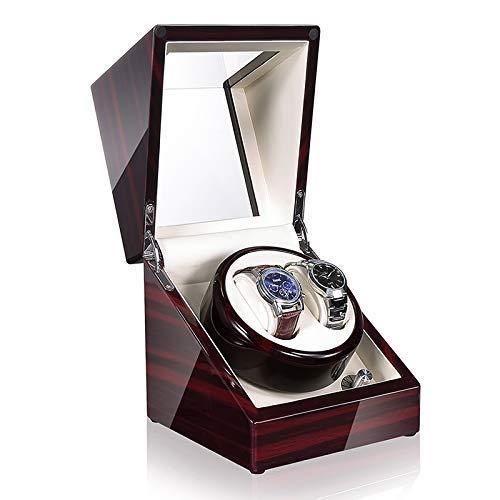 DFJU Relógio Shaker Time Partner Winders para relógios automáticos Caixa de Presente para relógio Shaker de Madeira sem som com abanador de lâmpada LED