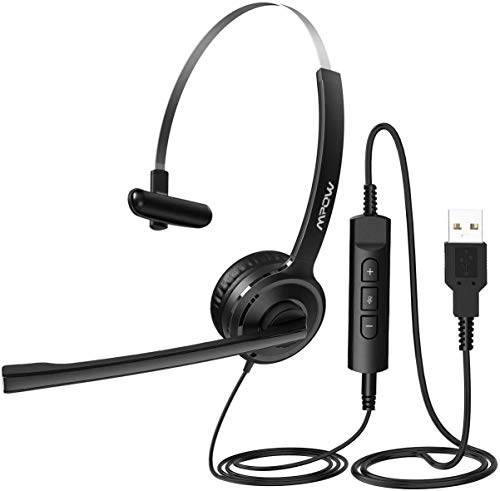 Mpow Computer Headset, 3.5mm/USB Headset with Noise Cancelling Mic, 40mm...