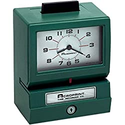 Acroprint 125NR4 011070411 Model 125 Analog Manual Print Time Clock with Month/Date/0-12 Hours/Minutes
