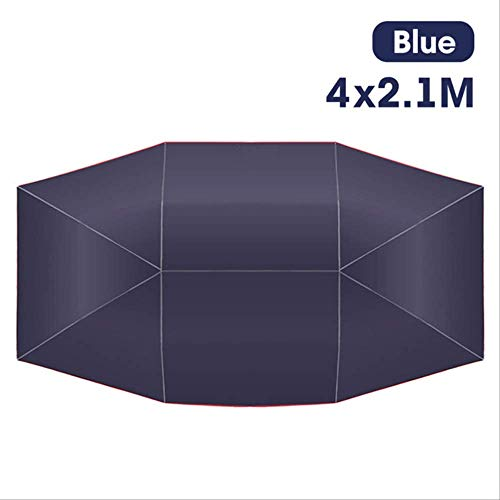 Genex Car Cover Waterproof Car Umbrella Sun Shade Cover Tent Cloth Canopy Sunproof 400x210cm for Outdoor DXY88 navy