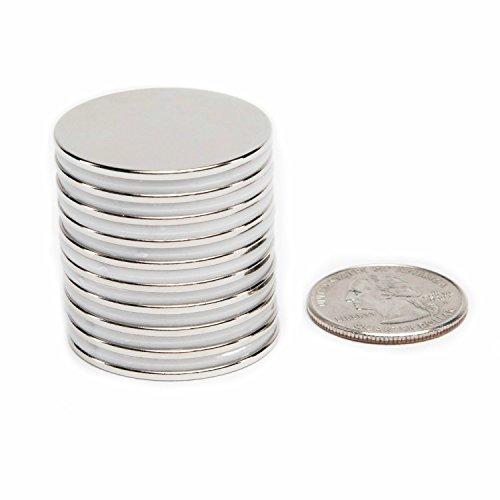 10 pcs N52 Super Fuerte de imanes de Disco 20 mm x 3 mm de Tierras Raras de neodimio imanes
