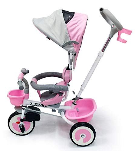 Passeggino Triciclo con Sedile Girevole Babyfun Summer Rosa