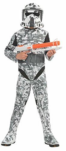 Rubies Star Wars Clone Wars Child's Arf Trooper Costume and Mask, Medium