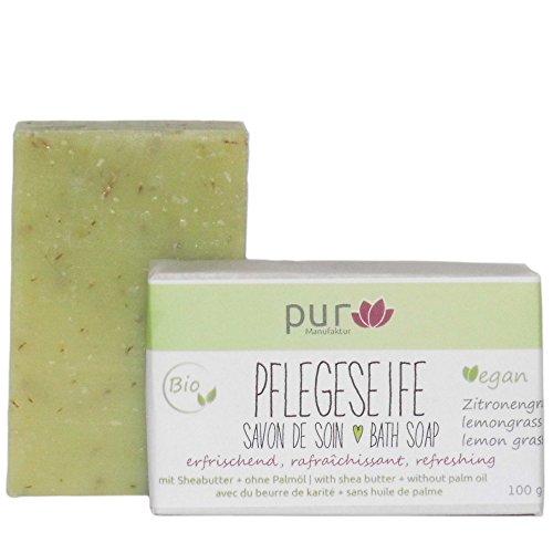 Manufaktur Pur Pflegeseife Lemongrass 100 g Bio Natur-Olivenölseife Zitronengras