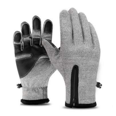YOFOIWER touchscreen-handschoenen buitenshuis winddicht werken fietsen jacht klimmen sport voor tuinieren, bouwheren, monteur Large grijs