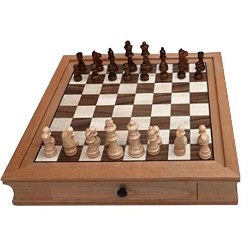 Schachspiel Schach Schachbrett Holz, Schach Schwarz Weiß, Schachspiel Schachset Für Erwachsene, Kinder, Anfänger