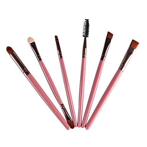 Dégagement!!! ❤️ ♬♬ ❤️LMMVP 6 Pcs 6PCS Cosmétique Pinceau à Maquillage Pour Les Lèvres Brosse à Paupières (Rose762, 6PCS)