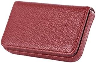New Pocket PU Leather Business ID Credit Card Holder Case Wallet JDUK Red