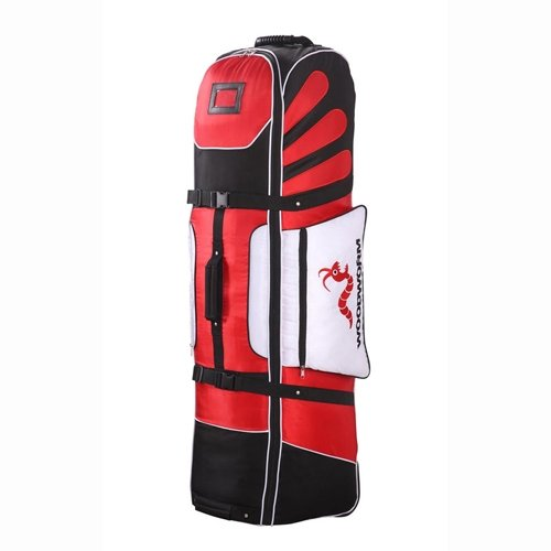 Woodworm Golf Deluxe Travel Cover With Wheels : Red