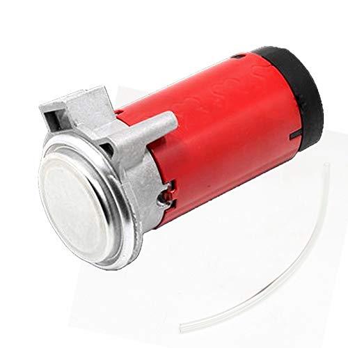YIYIDA Horn Air Pump Compresor de aire Compresor automotriz Bomba de aire Bocina Motor rojo de bocina de aire cromado Motor de bocina de automóvil para 12V cualquier bocina de aire Camiones Bocina ect
