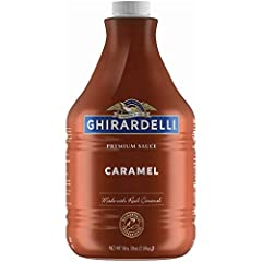 Ghirardelli's Creamy Caramel Flavored Sauce offers a wonderfully rich, caramel flavor Perfectly formulated for use in espresso-based drinks, this sauce is also great as an ice cream or dessert topping Net Weight: 90.4 Oz Pump sold separately