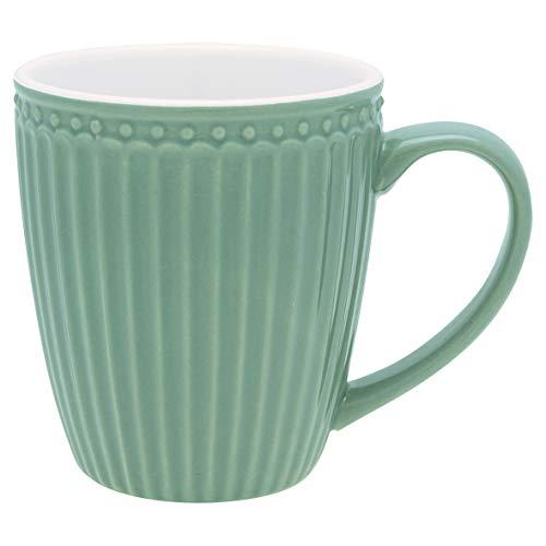 GreenGate - Tasse - Henkeltasse - Kaffeetasse - Mug - Alice - Dusty Green/grün - Porzellan - 300 ml