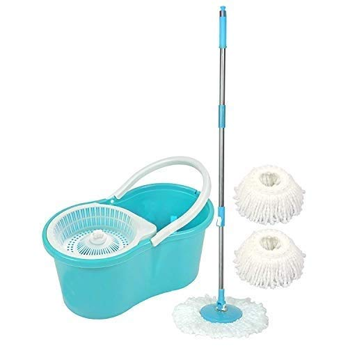 Ketsaal 360 Degree Spin Bucket Mop with 3 Refills-...