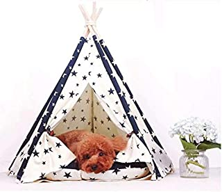 24x7 eMall Stars Pet Tent House Canopy Dog & Cat Bed with Cushion- Luxury Dog Tents & Pet Houses with Cushion & Blackboard...