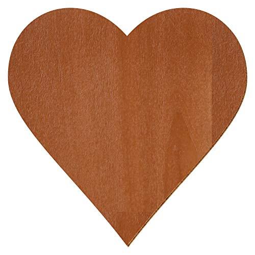 Palisander farbene Holz Herzen - Deko Zuschnitte Größenauswahl, Größe:Herz 40cmx40cm