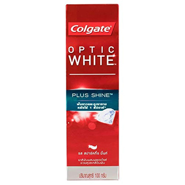 葉を集める外向き一方、(コルゲート)Colgate 歯磨き粉 「オプティック ホワイト 」 (プラス シャイン)