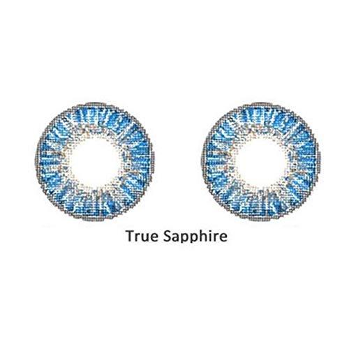 2 Teile/Satz Schöne Modische Weiche Big Eye Make-Up Farbige Kontaktlinsen ture Saphir