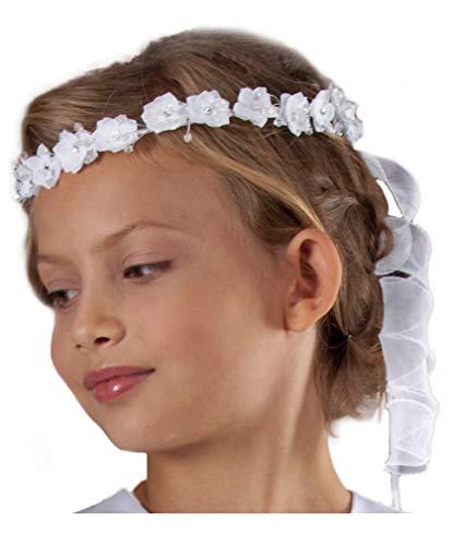 deine-Brautmode Haarkranz Kranz Kommunion Kommunionhaarkranz Haarschmuck K3 (Weiß)