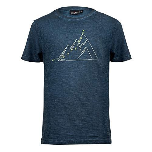 CMP Jungen T-Shirt Slub Jersey 100% Cotone, Cosmo, 152