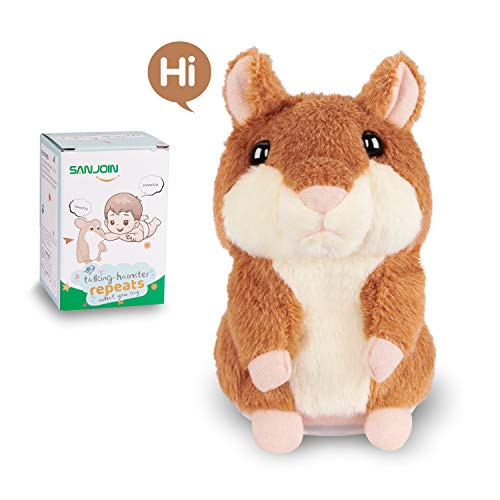 Toys for 2 Year Old Talking Hamster Repeats What You Say, Talking Plush Interactive Toys Repeating Plush Animal Toy, Fun Christmas Gift for 2,3 Year Old Kids, Baby, Child, Toddlers