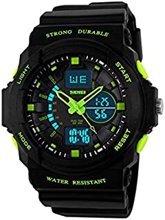IWOCH Boys Watches, Kids Sport Multi Function 50M Waterproof Digital Analog with Alarm LED for Girls Child