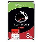 Seagate IronWolf NAS interne Festplatte 8 TB HDD, 3,5 Zoll, 7200 U/Min, CMR, 256 MB Cache, SATA 6 GB/s, silber, FFP, inkl. 3 Jahre Rescue Service, Modellnr.: ST8000VNZ04