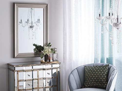 Beliani - Miroir Mural - Bubry - de Forme Rectangulaire et Couleur Argentée 61 x 91 cm