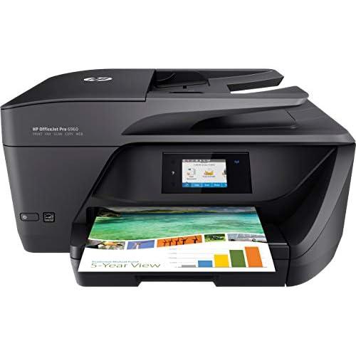 HP OfficeJet Pro 6960, Stampante Multifunzione a Getto di Inchiostro, Scanner, Fotocopiatrice e Fax, ADF, Wi-Fi, Wi-Fi Direct, Ethernet, App HP Smart, 3 Mesi di Servizio Instant Ink Inclusi, Nero