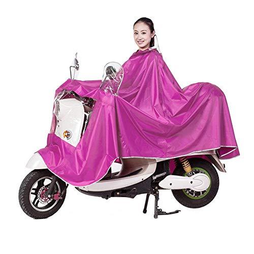 Cape de Pluie Manteaux Imperméable à Grande Capuche Moto/Vélo Poncho/Veste de Pluie Raincoat Cape Bonne Qualité Rainwear Outdoor Waterproof Unisexe pour Homme Femme-Rose Rouge