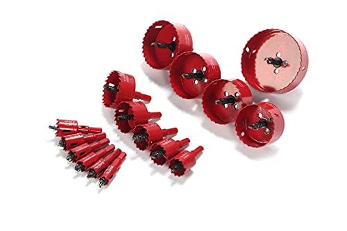 バイメタルホールソー 直径16mm~100mm 仕事現場で使う方にオススメなお得な16本セット 穴あけ 切削 DIY ドリル 工具 お得