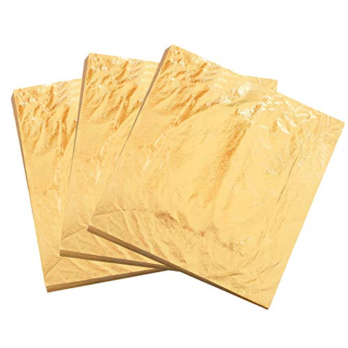 KINNO Pan de Oro de Imitación Lámina de Cobre 100 hojas para...