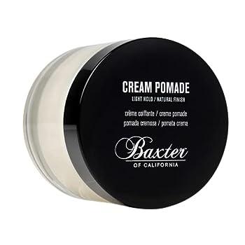 Baxter of California Cream Pomade for Men   Natural Finish   Light Hold   Hair Pomade   2 fl oz.