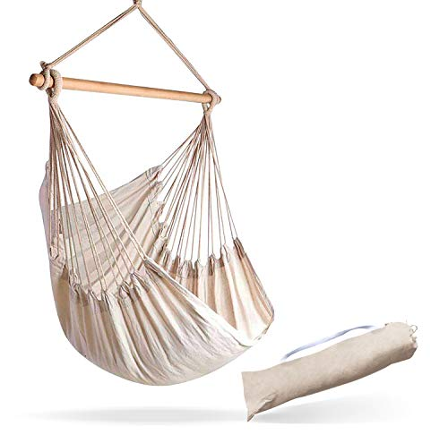Hammock Sky Large Brazilian Hammock Chair Cotton Weave - Extra Long Bed - Hanging Chair for Yard,...
