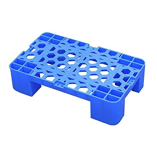 LIANGJUN-Pallet In Plastica, Rack di Archiviazione Impermeabile Robusto Griglia Scheda A Prova D'umidità Magazzino Giardino Interno Portatile, 3 Dimensioni (Color : Blue-1pack, Size : 40x60x12cm)
