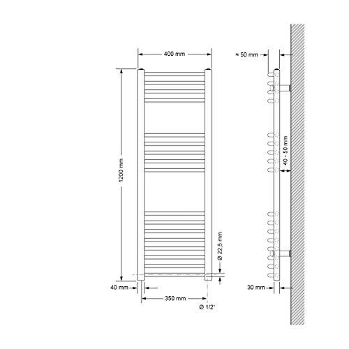 ECD Germany Bhz Sahara 400*1200 Chrome gebogen+1200W