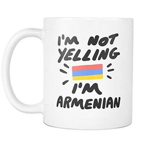 N\A No Estoy Gritando' Soy una Taza de café Armenia de 11 oz - Taza de Regalo Divertida para compañeros de Trabajo y Amigos de Europa del Este del Cáucaso