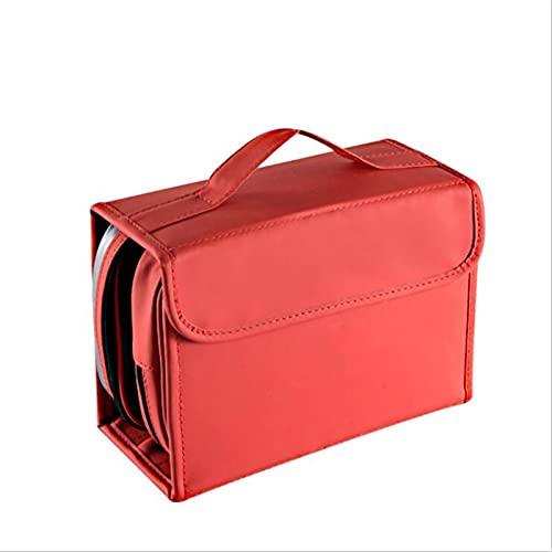BHUYGV Bolsa De Cosméticos De Viaje Neceser Colgante para Baño Organizador De Artículos De Tocador Almacenamiento Impermeable (Color : Red, Size : 22.5x16.5x9cm)
