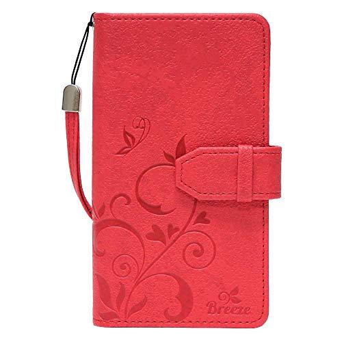 [Breeze] LG V30+ L-01K / JOJO L-02K / isai V30+ LGV35手帳ケース L01K手帳ケース L02K手帳ケース LGV35手帳ケース イサイ ブイサーティ プラス 手帳型カバー 液晶保護フィルム付 全機種対応Red
