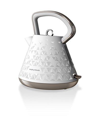 Morphy Richards Wasserkocher Prism 108102, Kunststoff, Weiß - Pyramide
