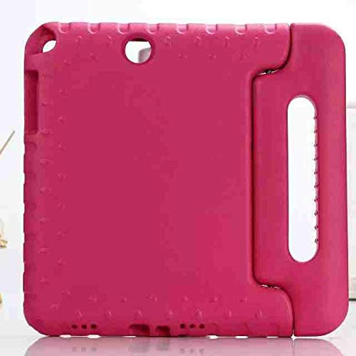 QiuKui Tab Cover For Samsung Galaxy Tab A 9.7 Inch T550 T555C, Kids Cover Safe Handle Shockproof Case Foam Shakeproof Stand Protective Cover For Samsung Galaxy Tab A 9.7 (Color : Rose red)