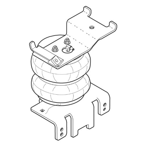 Firestone Ride-Rite 2355 Ride-Rite; Air Helper Spring Kit; Rear; Incl. Brackets; Air Helper Springs; Hardware; Air Line; And Inflation Valves; No Drilling Required; Number W217602355;