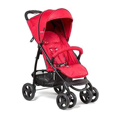 Bebé Due - Silla de paseo Nonna, moderno, color Rojo, Delta Red