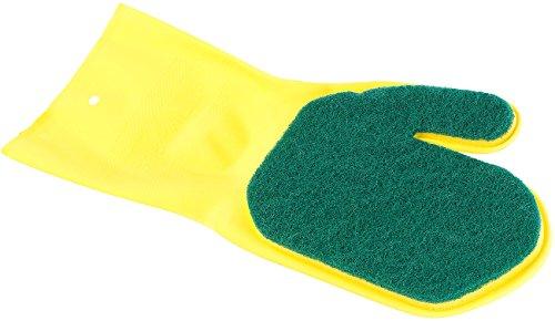 PEARL Polierhandschuhe: Reinigungshandschuh für Geschirr und Besteck, linkshändig (Putzhandschuhe)