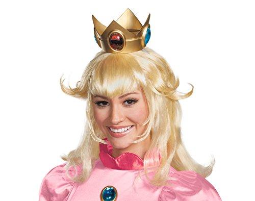 Prinzessin Peach Perücke Super Mario Bros Kostüm Zubehör Erwachsene Damen Blond
